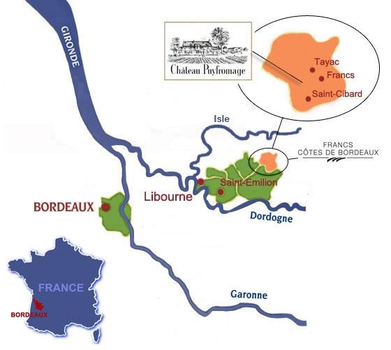 Géographie : Terroir du Château Puyfromage