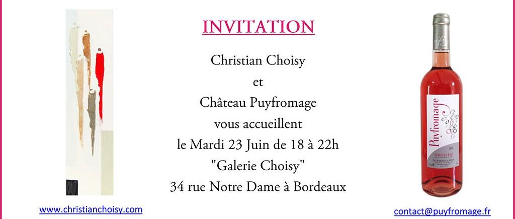 Invitation la Galerie Choisy